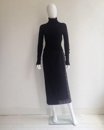 Comme des Garçons black and tartan deconstructed skirt — 1997