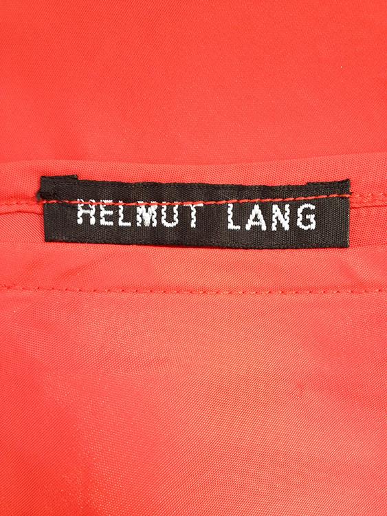 Helmut Lang red mini skirt