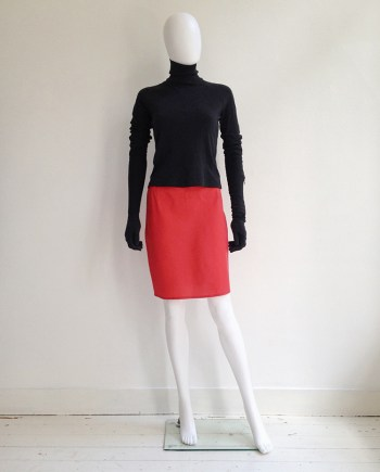 Helmut Lang red mini skirt