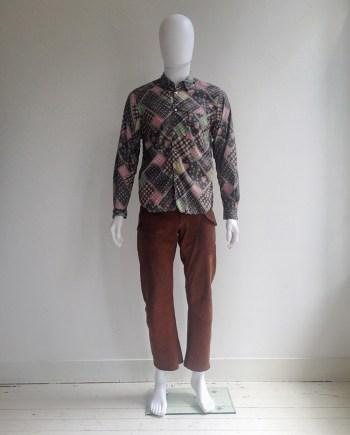 Junya Watanabe Man inside out western print shirt — 2004