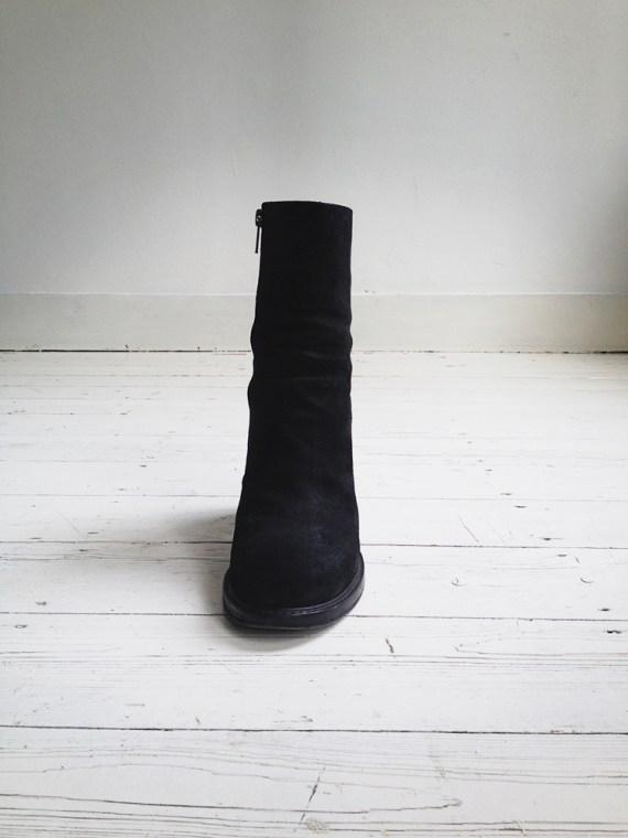 A F Vandevorst black suede ankle boots 3779 copy