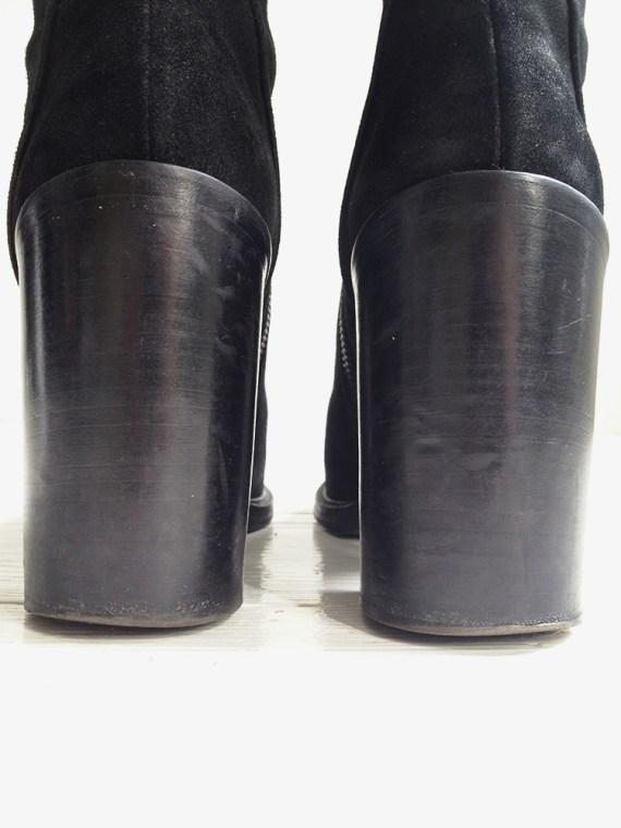 A F Vandevorst black suede ankle boots 3806 copy
