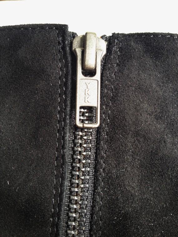 A F Vandevorst black suede ankle boots 3819 copy