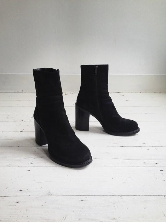 A F Vandevorst black suede ankle boots 3876 copy