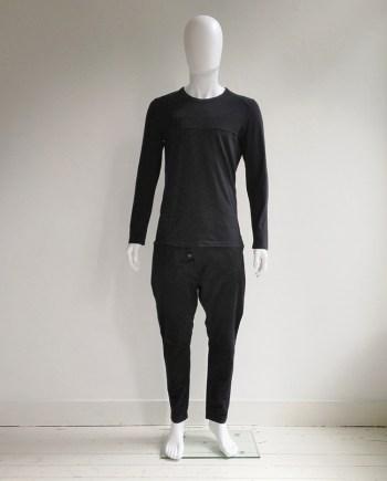Maison Martin Margiela black stripe longsleeve t-shirt — 2004