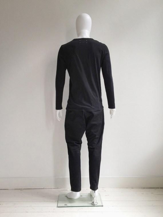 Maison MArtin Margiela 10 black mens jumper with stripe model2