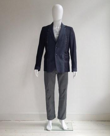 Maison Martin Margiela artisanal blue deconstructed blazer — spring 2004