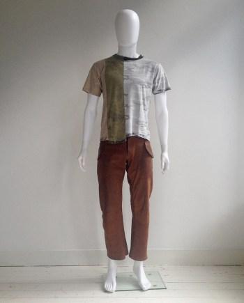 Maison Martin Margiela artisanal camouflage t-shirt — 2005