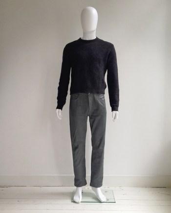 Maison Martin Margiela artisanal grey painted jeans — 04/05