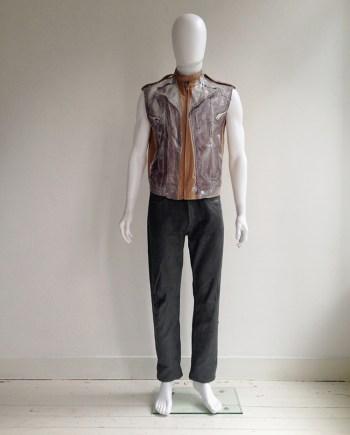 Maison Martin Margiela artisanal trompe-l'oeil waistcoat — spring 2005