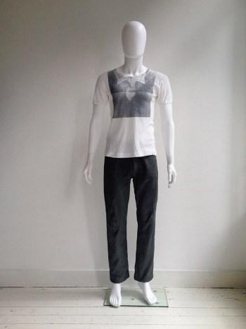 Maison Martin Margiela artisanal trompe-l'oeil print t-shirt — fall 2003