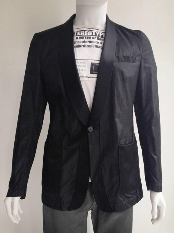 Maison Martin Margiela black blazer with outside seams 2006 top1