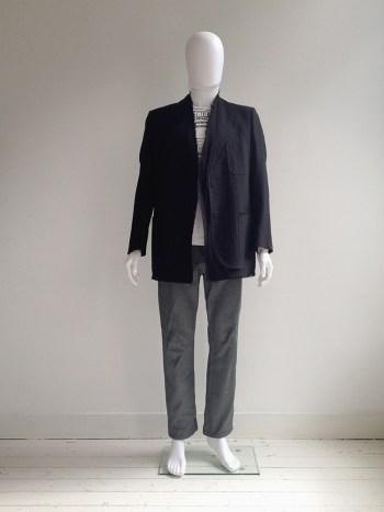 Maison Martin Margiela black covered blazer — fall 2001