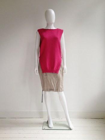 Maison Martin Margiela pink knitted top — fall 1999