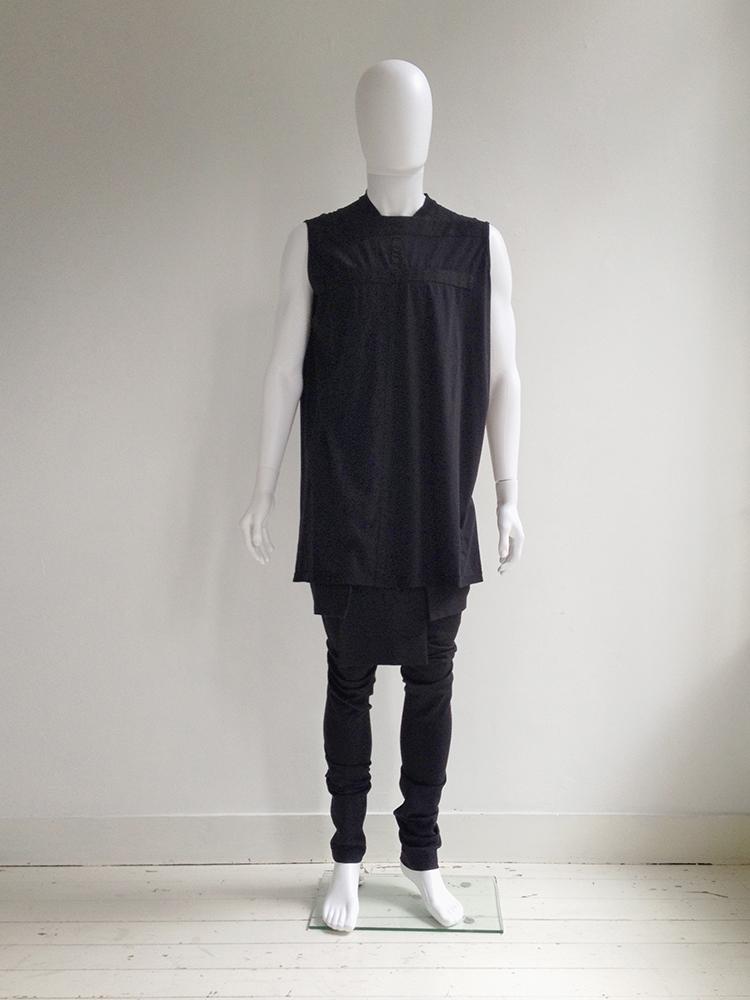 Rick Owens DRKSHDW black geometric tunic — fall 2015