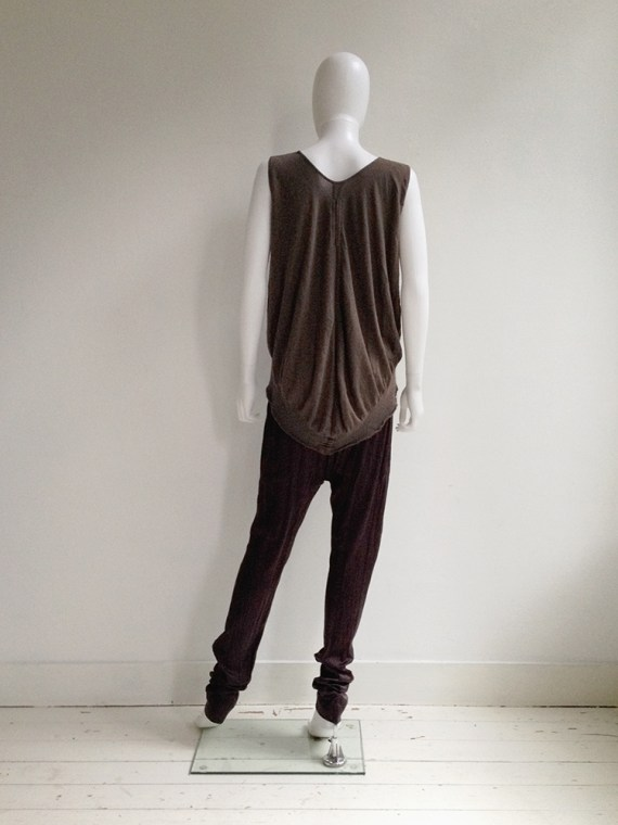 Rick Owens CREATCH brown knit bubble top — spring 2008