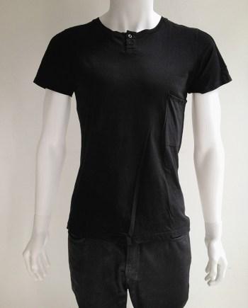 Maison Martin Margiela black t-shirt with white stripe