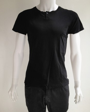 Maison Martin Margiela black t-shirt with white stripe
