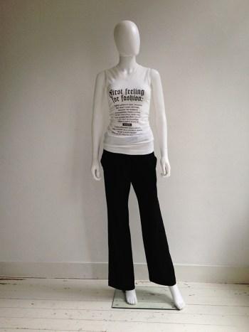 Lieve Van Gorp 'First feeling for fashion' t-shirt
