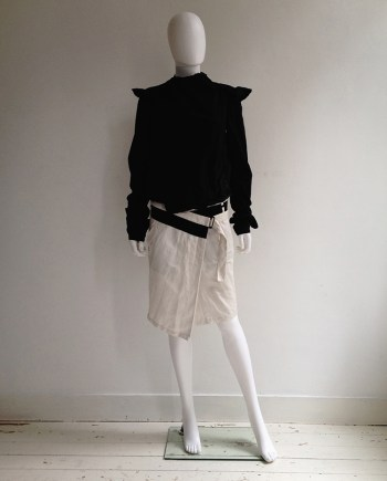 Ann Demeulemeester white wrapped skirt