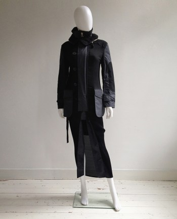 Junya Watanabe blue and black long coat — fall 2010