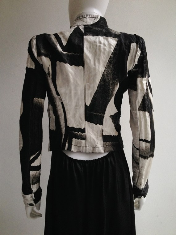 Ann Demeulemeester black and whiten fencing jacket — spring 2011