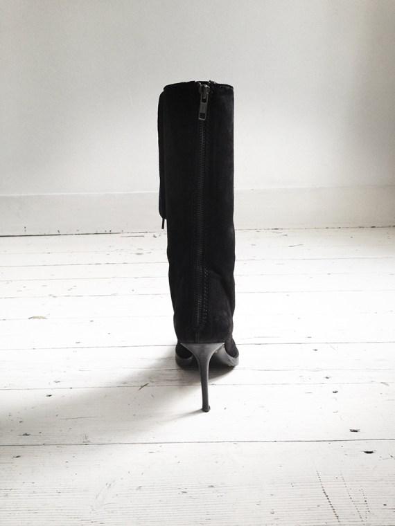 Haider Ackermann black lace up boots runway — fall 2009