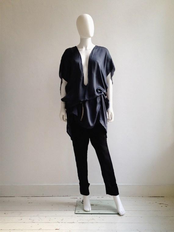 Haider Ackermann blue deep cut tunic dress