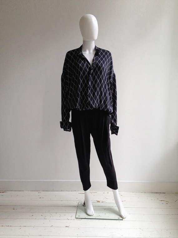 Haider Ackermann blue shirt with white graphic print — spring 2013 | shop at vaniitas.com