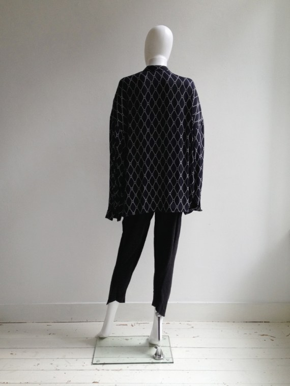 Haider Ackermann blue shirt with white graphic print — spring 2013