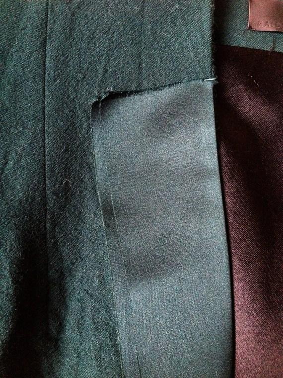 vintage Haider Ackermann green emerald blazer