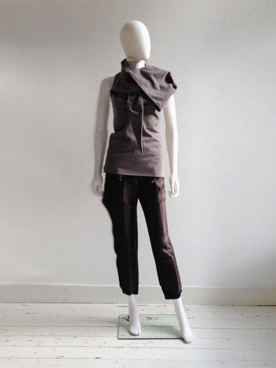 Haider Ackermann purple draped collar top — fall 2010   shop at vaniitas.com