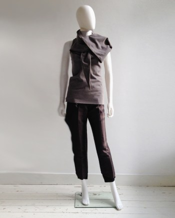 Haider Ackermann purple draped collar top — fall 2010