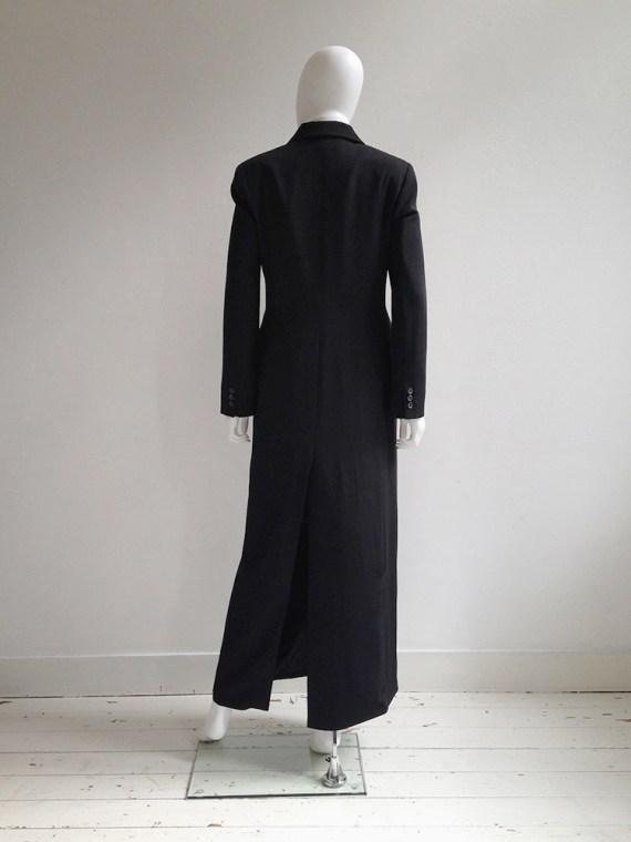 vintage Ann Demeulemeester black maxi coat — 90s