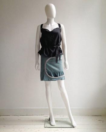 Hussein Chalayan blue circular cutout skirt — spring 2003