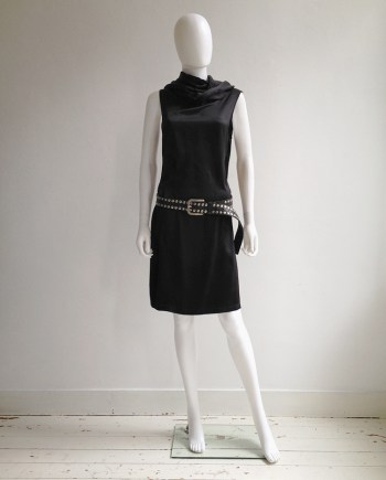 Ann Demeulemeester black leather belt with silver studs
