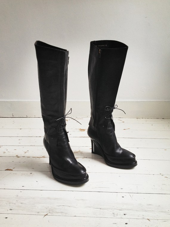 Ann Demeulemeester black leather chaps