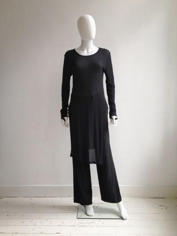 Ann Demeulemeester black long jumper with wrist straps 5049
