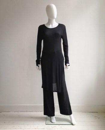 Ann Demeulemeester black long jumper with wrist straps