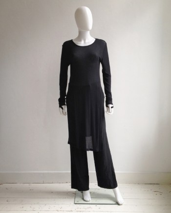 Ann Demeulemeester black long jumper with wrist straps