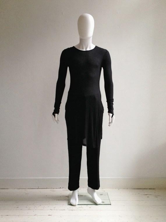 Ann Demeulemeester black long jumper with wrist straps 6086