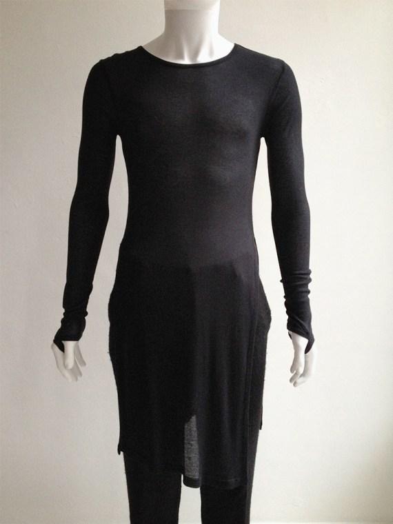 Ann Demeulemeester black long jumper with wrist straps 6097