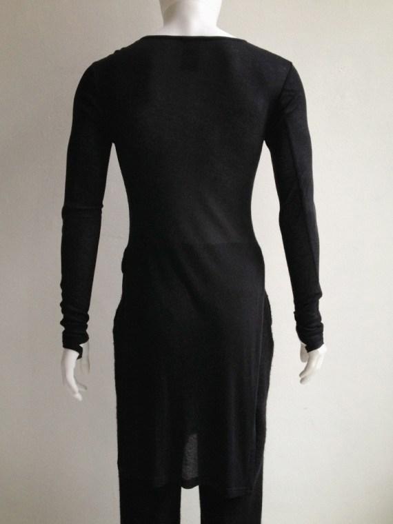 Ann Demeulemeester black long jumper with wrist straps 6106