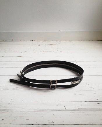 Ann Demeulemeester split zipper belt — spring 2003