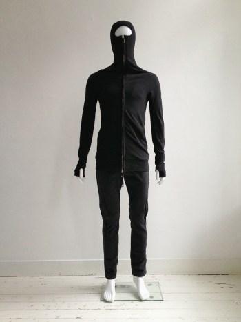 Boris Bidjan Saberi black ninja hoodie — spring 2012