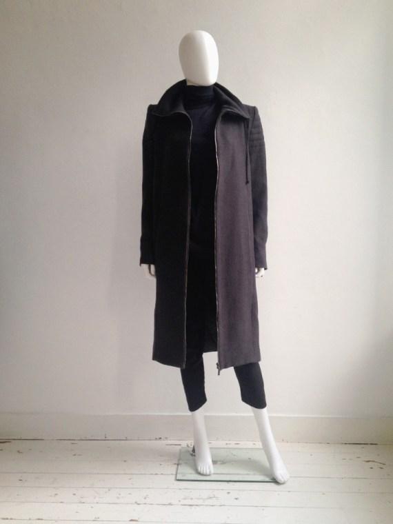Haider Ackermann purple long coat fall 2012 8671