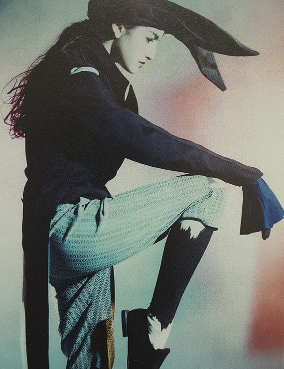 Ann Demeulemeester dark blue regency coat 1989