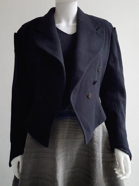 Ann Demeulemeester dark blue regency coat _120037