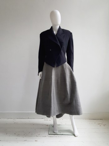 Ann Demeulemeester dark blue regency coat