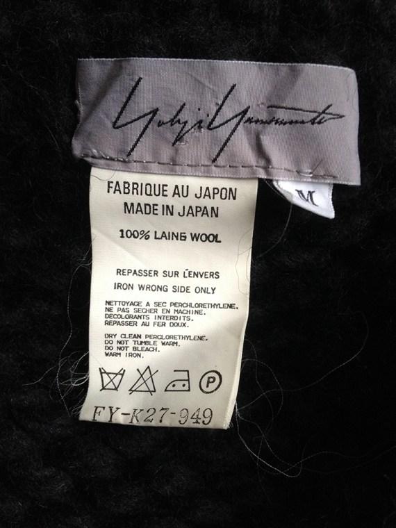 Yohji Yamamoto black 3D knitted cardigan 9955